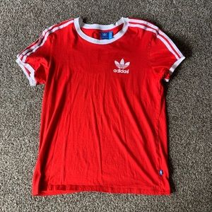 Men's red adidas shirt